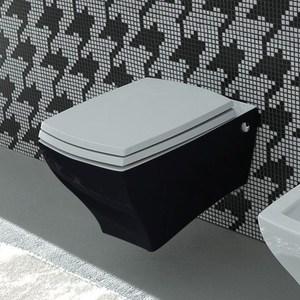 все цены на Унитаз ArtCeram Jazz подвесной черно-белый (JZ01V 01.50) онлайн