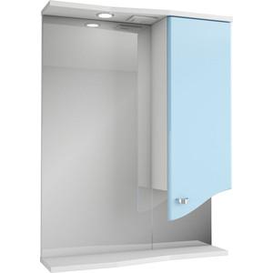 Зеркальный шкаф Меркана roman 60 см шкаф справа свет голубое (14472) комплект мебели меркана roman голубой