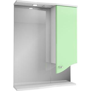 Зеркальный шкаф Меркана roman 60 см шкаф справа свет салатовое (14471)