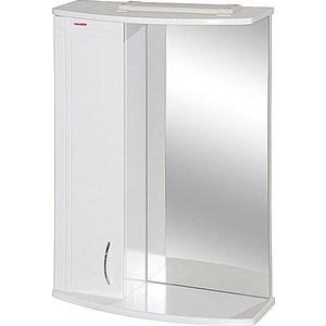 Зеркальный шкаф Меркана квадро 8 55 см шкаф слева свет белое (7331) зеркальный шкаф меркана магнолия 60 см полочки слева свет белый 7326