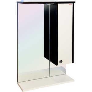 Купить зеркальный шкаф Меркана оливия 55 см шкаф справа свет венге/ваниль (22544) (255594) в Москве, в Спб и в России