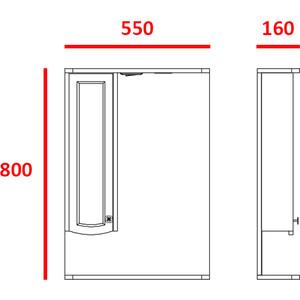 Зеркальный шкаф Меркана ольга 55 см шкаф слева свет венге (16023) зеркальный шкаф меркана магнолия 60 см полочки слева свет белый 7326