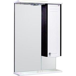 Зеркальный шкаф Меркана ольга 55 см шкаф справа свет венге (16018)