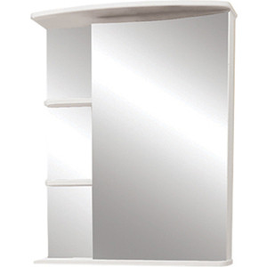 Зеркальный шкаф Меркана керса 01 55 см справа белое (7653) меркана магнолия 60 см полочки справа свет белое 7327