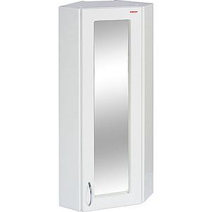 Шкаф Меркана навесной 30 см угловой с зеркалом правый белый (12491) пенал меркана напольный 30 см угловая с зеркалом левый белая 25550