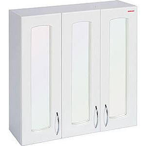 Купить шкаф Меркана навесной 60 см 3-х дверный с зеркалом белый (7241) (255675) в Москве, в Спб и в России