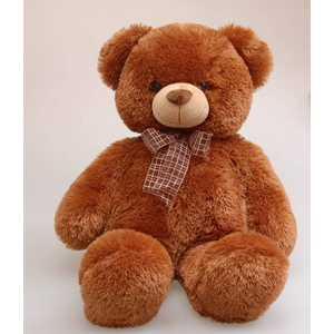 Aurora Медведь коричневый с бантом 69см 30-349 aurora медведь медовый с бантом 69см 30 249
