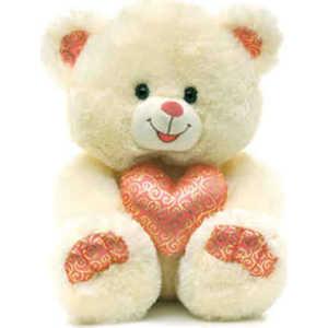 Lava Медведь с золотистым сердцем музыкальный 25 см Звук: ''Как тебя я долго ждал'' Л926