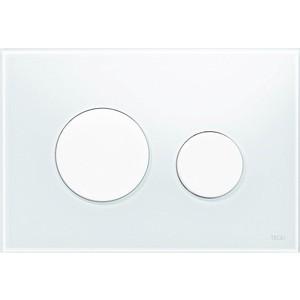 Панель смыва TECE TECEloop (9240650) стекло белое, клавиши белые лицевая панель tece teceloop modular 9240679 без клавиш стекло рубиновый