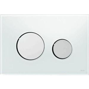 Панель смыва TECE TECEloop (9240659) стекло белое, клавиши хром матовый лицевая панель tece teceloop modular 9240679 без клавиш стекло рубиновый