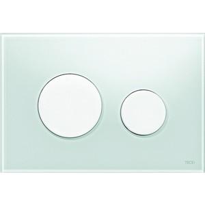 Панель смыва TECE TECEloop (9240651) стекло зелёное, клавиши белые лицевая панель tece teceloop modular 9240679 без клавиш стекло рубиновый