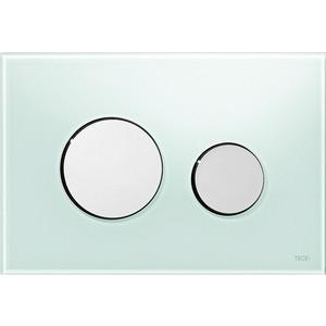 Панель смыва TECE TECEloop (9240653) стекло зелёное, клавиши хром глянцевый лицевая панель tece teceloop modular 9240679 без клавиш стекло рубиновый