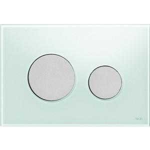Панель смыва TECE TECEloop (9240652) стекло зелёное, клавиши хром матовый лицевая панель tece teceloop modular 9240679 без клавиш стекло рубиновый