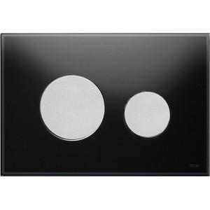 Панель смыва TECE TECEloop (9240655) стекло чёрное, клавиши хром матовый лицевая панель tece teceloop modular 9240679 без клавиш стекло рубиновый