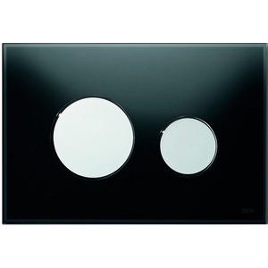 Панель смыва TECE TECEloop (9240656) стекло черное, клавиши хром глянцевый лицевая панель tece teceloop modular 9240679 без клавиш стекло рубиновый