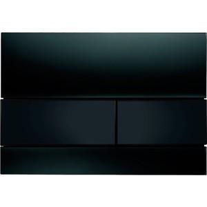 Панель смыва TECE TECEsquare (9240809) стекло чёрное, клавиши чёрные tece кнопка смываtece now 9 240 400 белая