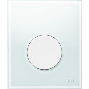Панель смыва для писсуара TECE TECEloop Urinal (9242650) стекло белое, клавиша белая
