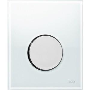 Панель смыва для писсуара TECE TECEloop Urinal (9242660) стекло белое, клавиша хром глянцевый