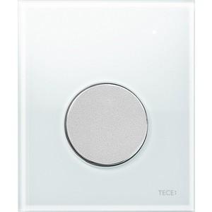 Панель смыва для писсуара TECE TECEloop Urinal (9242659) стекло белое, клавиша хром матовый клавиша смыва iddis unifix 030 uni30m0i77 матовый хром