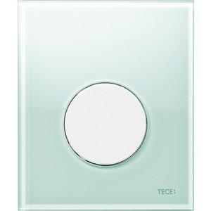 Панель смыва для писсуара TECE TECEloop Urinal (9242651) стекло зеленое, клавиша белая
