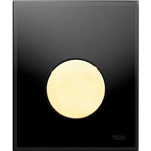 Панель смыва для писсуара TECE TECEloop Urinal (9242658) стекло черное, клавиша позолоченная лицевая панель tece teceloop modular 9240679 без клавиш стекло рубиновый