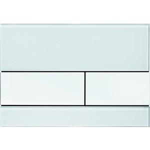 Панель смыва TECE TECEsquare (9240800) стекло белое, клавиши белые tece кнопка смываtece now 9 240 400 белая