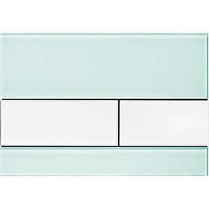 Панель смыва TECE TECEsquare (9240803) стекло зелёное, клавиши белые tece кнопка смываtece now 9 240 400 белая