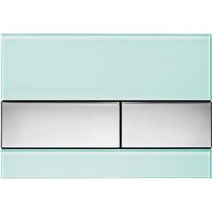 Панель смыва TECE TECEsquare (9240805) стекло зелёное, клавиши хром глянцевый лицевая панель tece teceloop modular 9240679 без клавиш стекло рубиновый