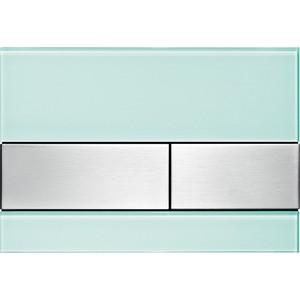 Панель смыва TECE TECEsquare (9240804) стекло зелёное, клавиши нержавеющая сталь 115 890 sn 5 электр блок датчика и клавиши 230в с клавишей sigma10 для унитаза матов полиров матов нерж сталь