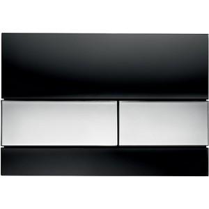 Панель смыва TECE TECEsquare (9240807) стекло чёрное, клавиши хром глянцевый клавиша смыва geberit sigma 50 белый хром 115 788 11 5