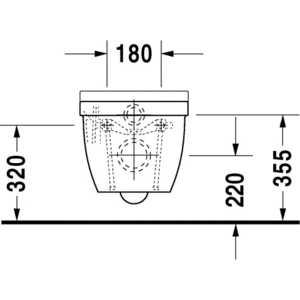 Унитаз Duravit Starck 3 подвесной (2225090000) от ТЕХПОРТ
