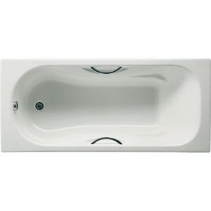 Чугунная ванна Roca Malibu 160x70 antislip с отверстиями для ручек (7.2334.5.000.1/2334G0000)