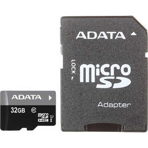 Карта памяти A-Data microSDHC 32Gb Class10 UHS-I, SD adapter (AUSDH32GUICL10-RA1)