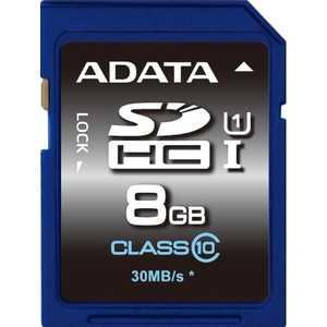 A-Data SDHC 8Gb Class10 (ASDH8GUICL10-R)