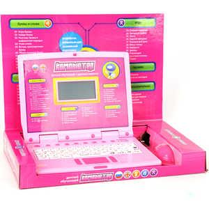 Joy Toy Компьютер 7161 обучающий, русско-английский, с мышкой и цветным дисплеем, от сети, в коробке 36х25х5см