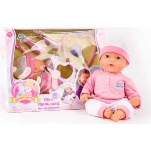 Joy Toy Кукла 5238 Пупс ''Дочки-Матери'' (41 см) с набором доктора, функциональная, на батарейках, в коробке 38х29х20 см