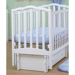 Кроватка Кубаньлесстрой Жасмин продольный маятник/ящик (белый) АБ 19.3 аб серкл про купить в смоленске