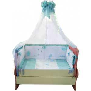 Комплект в кроватку Сдобина Птичка 7 предметов (голубой) 93 аксессуар для упаковки птичка 7 см