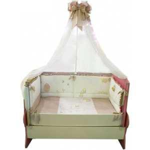 Комплект в кроватку Сдобина Птичка 7 предметов (персиковый) 93 аксессуар для упаковки птичка 7 см