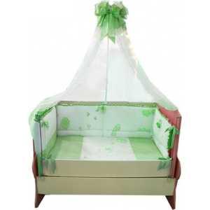 Комплект в кроватку Сдобина Птичка 7 предметов (салатовый) 93 аксессуар для упаковки птичка 7 см