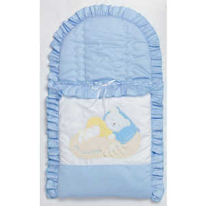 Фотография товара конверт для новорожденного Сдобина ''Мой маленький друг'' (голубой) 50.115 (264446)
