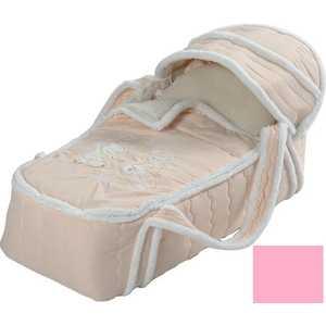 Фотография товара сдобина Меховая сумка переноска для новорожденного розовый 79 (264457)