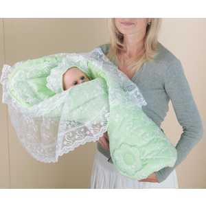 Фотография товара одеяло-конверт Сдобина для новорожденного (салатовый) 72.2 (264464)