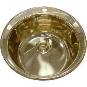 Кухонная мойка ZorG inox (SZR-510/205-bronze) мойка кухонная zorg inox pvd szr 51 copper