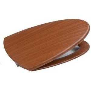 Сиденье для унитаза Roca Veranda деревянное в отделке вишня плавное закрывание (801442M14)