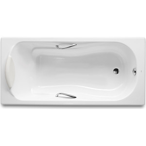 Чугунная ванна Roca Haiti 160x80 с отверстиями для ручек (2330G000R)