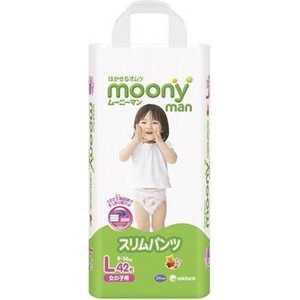 Трусики Moony для девочек 9-14 кг 42 (44) шт (L) 4903111183500 moony трусики ночные для мальчиков 13 25 кг в барнауле