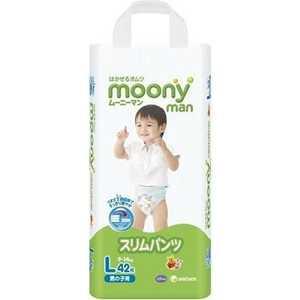 Трусики Moony для мальчиков 9-14 кг 42(44) шт (L) 4903111183418 moony трусики ночные для мальчиков 13 25 кг в барнауле