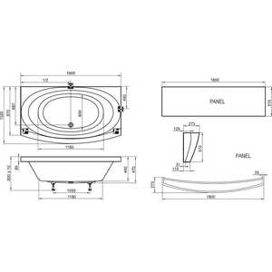 Акриловая ванна Ravak Evolution pu-plus 180x102, без гидромассажа (C1010P0000) от ТЕХПОРТ