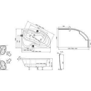 Акриловая ванна Ravak Rosa II pu-plus 150x105 левая, без гидромассажа (CK210P0000) от ТЕХПОРТ